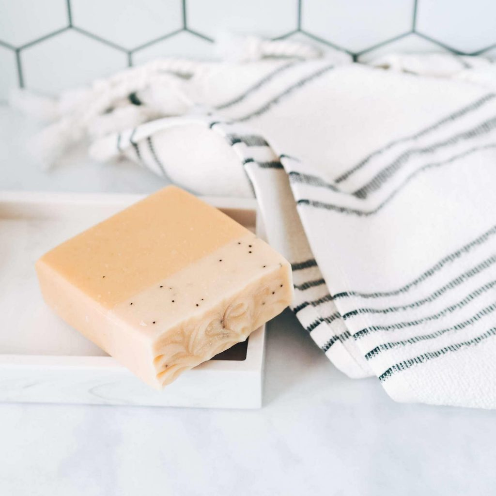 Turmeric soap Wearth London Zero Waste