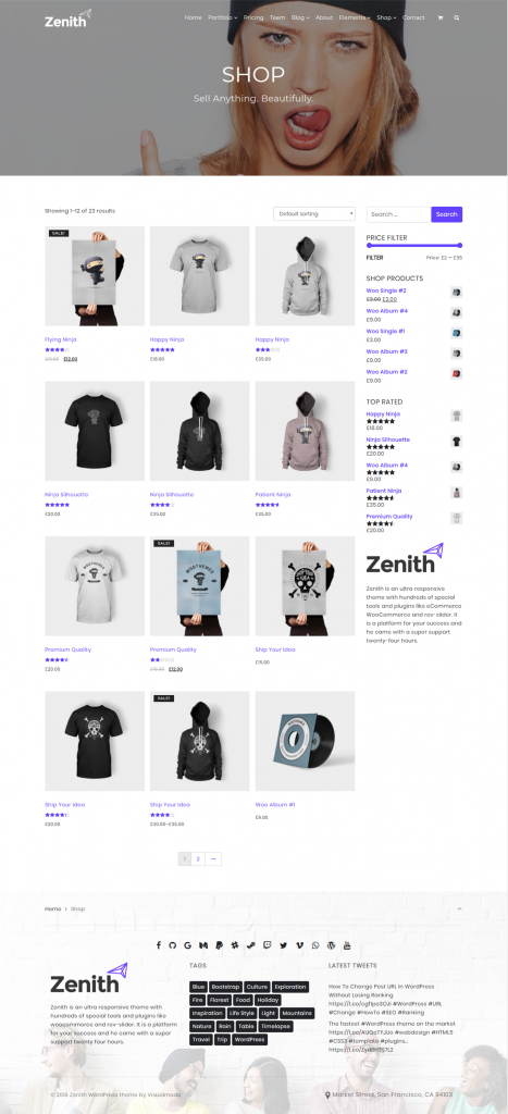 Zenith - Responsive WordPress Theme For Small Businesses