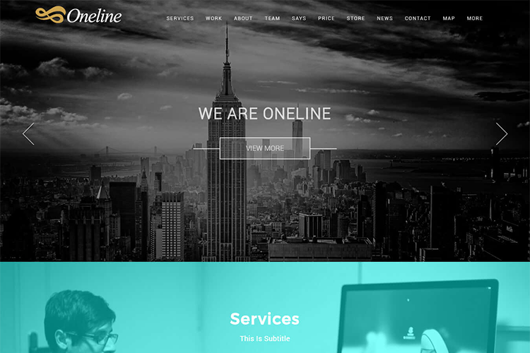 Oneline Pro - The Best Of One Page WordPress Themes
